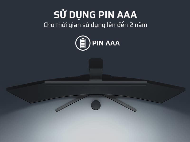 Sử dụng pin AAA, cho thời gian sử dụng lên đến 2 năm