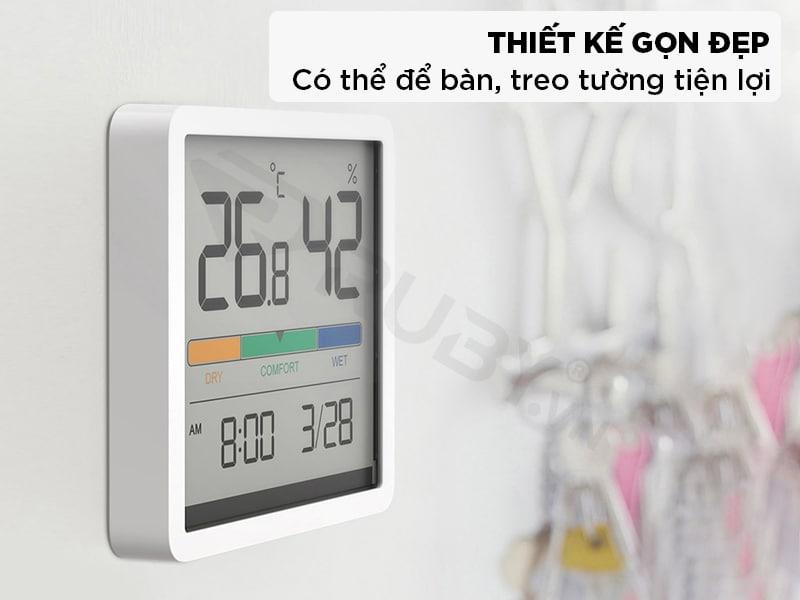 Đồng hồ đo nhiệt độ độ ẩm có thiết kế gọn đẹp