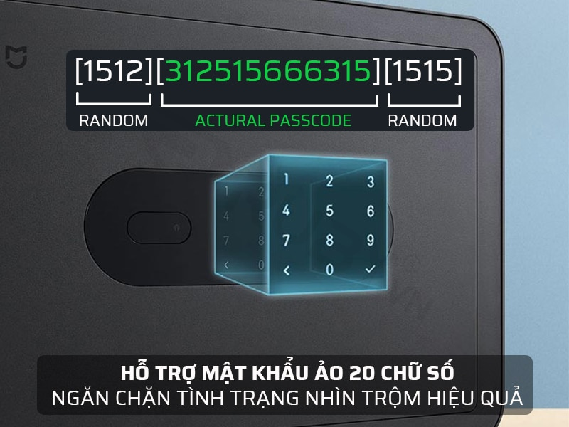 Két sắt thông minh hỗ trợ mật khẩu ảo 20 chữ số