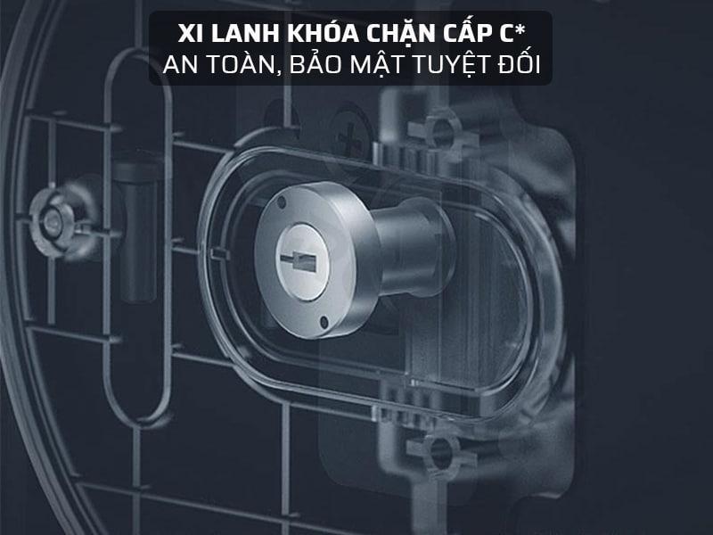 Trang bị Xilanh khóa chặn cấp C* cho két sắt thêm an toàn