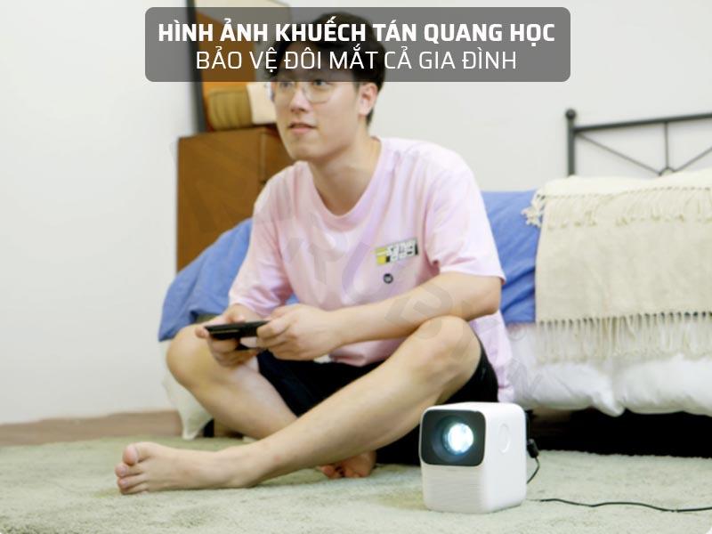Máy chiếu mini Xiaomi có hình ảnh khuếch tán quang học bảo vệ mắt