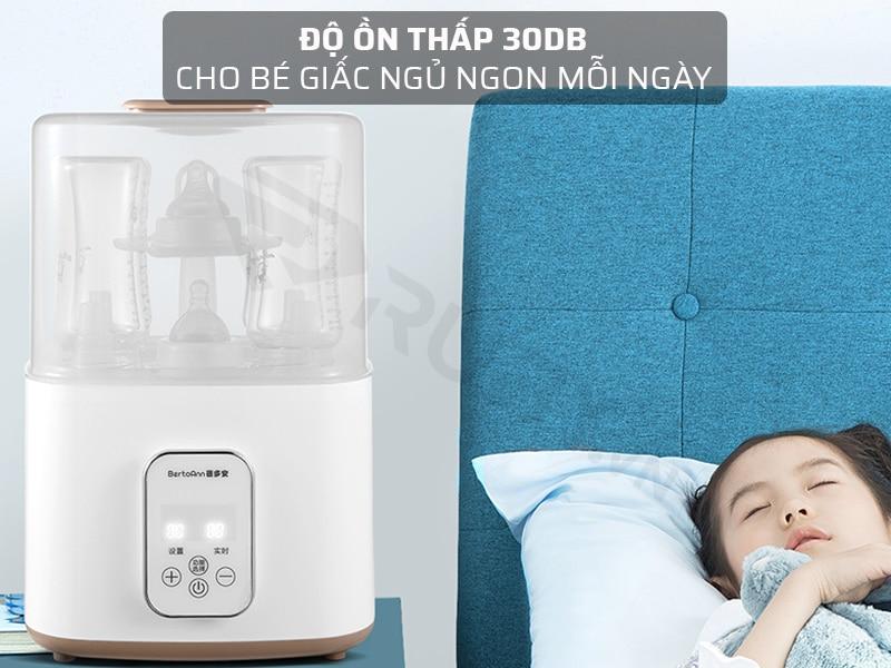 Máy hâm sữa tiệt trùng cho bé có độ ồn thấp