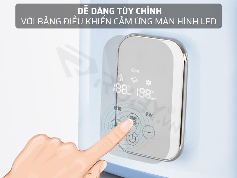 Bảng điều khiển màn hình LED của máy hâm sữa tiện lợi