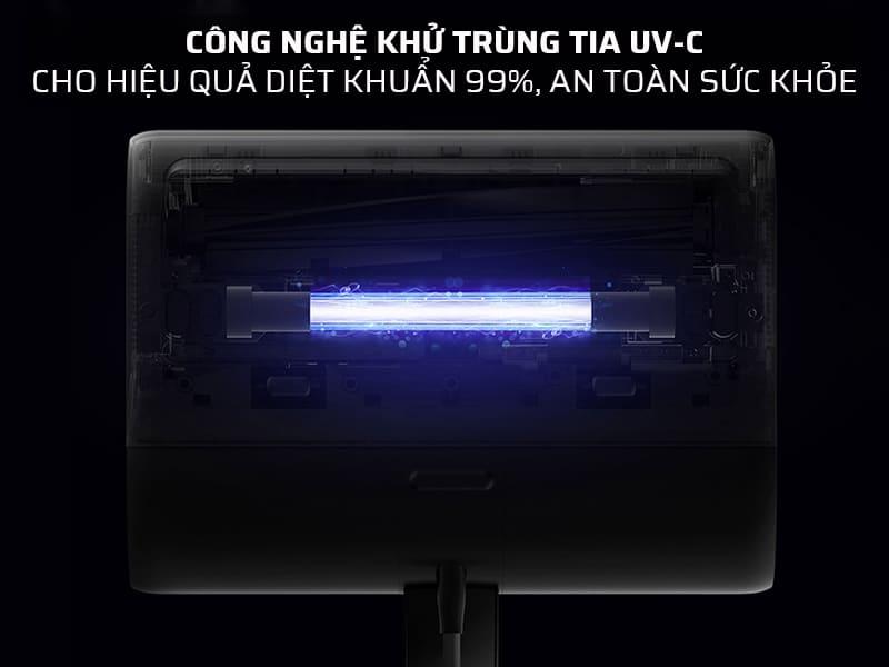 Công nghệ khử trùng tia UV-C cho hiệu quả diệt khuẩn 99%