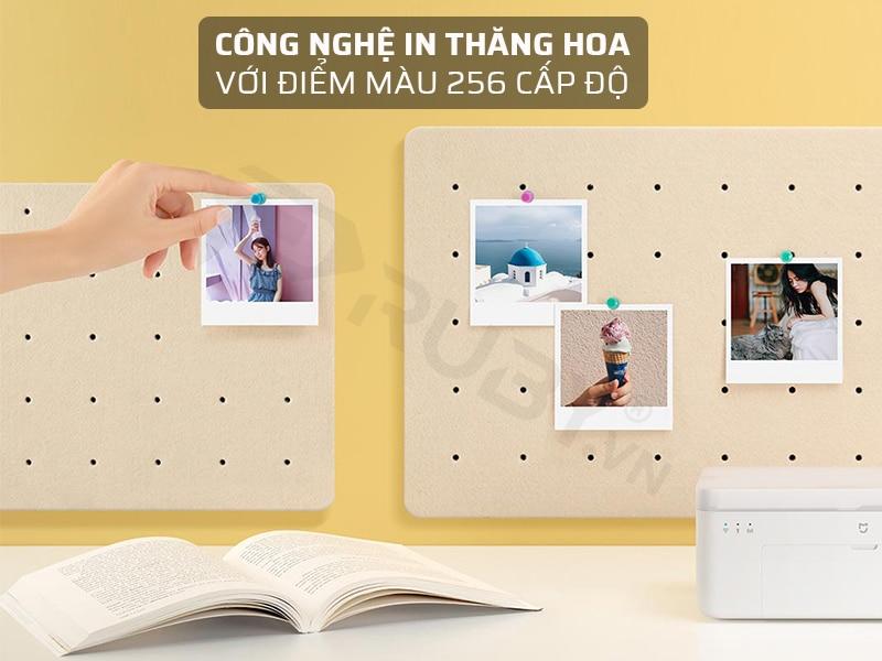 Máy in ảnh Xiaomi mini có công nghệ in thăng hoa với điểm màu 256 cấp độ
