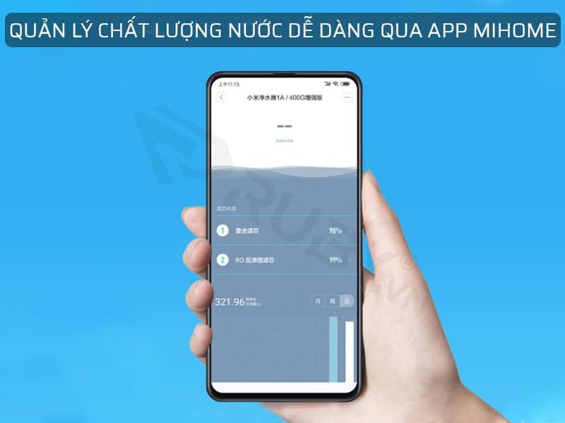 Quản lý chất lượng nước dễ dàng qua App Mihome