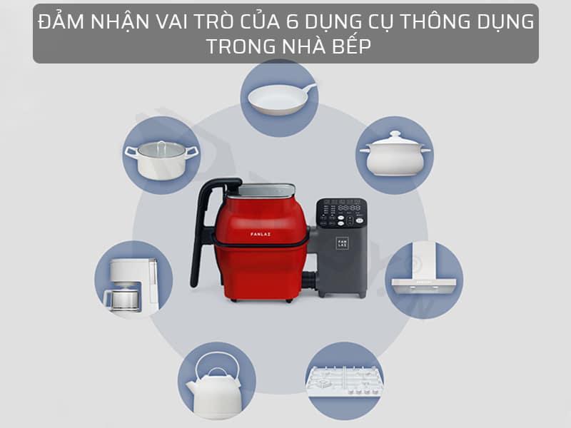 máy nấu thức ăn đảm nhận vai trò 6 dụng cụ nhà bếp