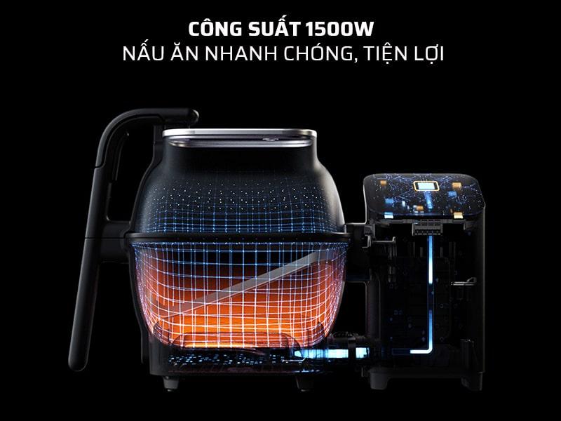 robot nấu ăn thông minh công suất lớn, giúp nấu ăn nhanh, hiệu quả