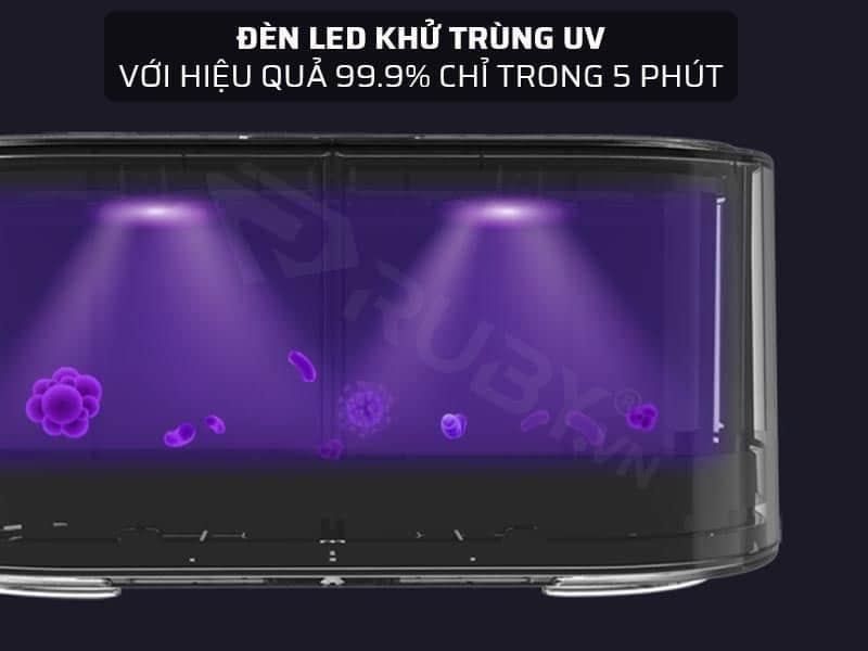 Đèn LED khử trùng UV với hiệu quả 99.9% chỉ trong 5 phút