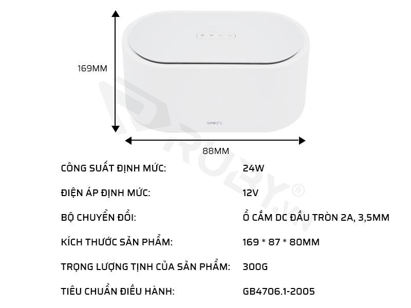Thông số kỹ thuật máy tiệt trùng UV-C Xiaomi SMATE SX-01