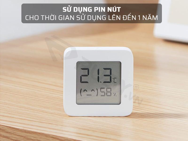 máy đo nhiệt độ và độ ẩm trong phòng sử dụng pin nút sử dụng 1 năm