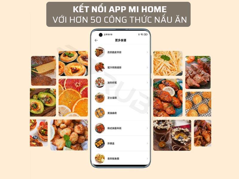 Nồi chiên không dầu Xiaomi kết nối app Mihome