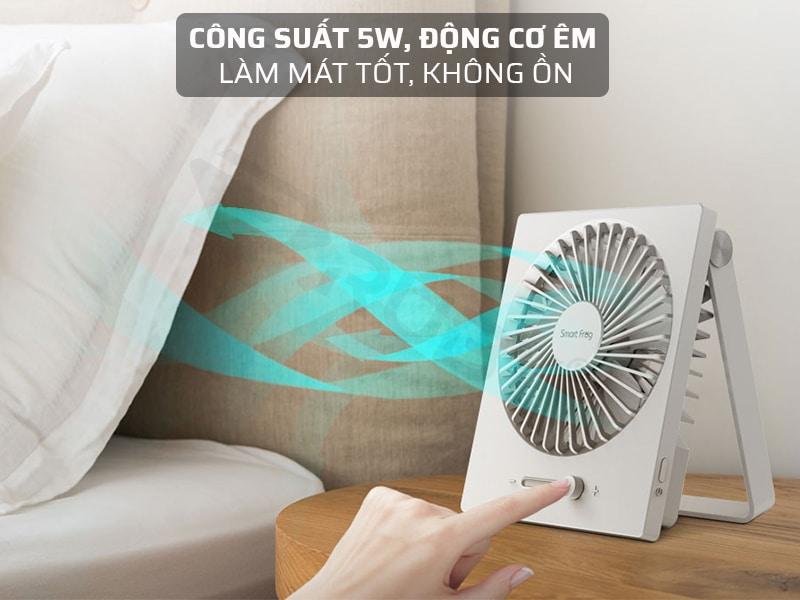 Quạt tích điện công suất mạnh mẽ, hoạt động êm, không ồn