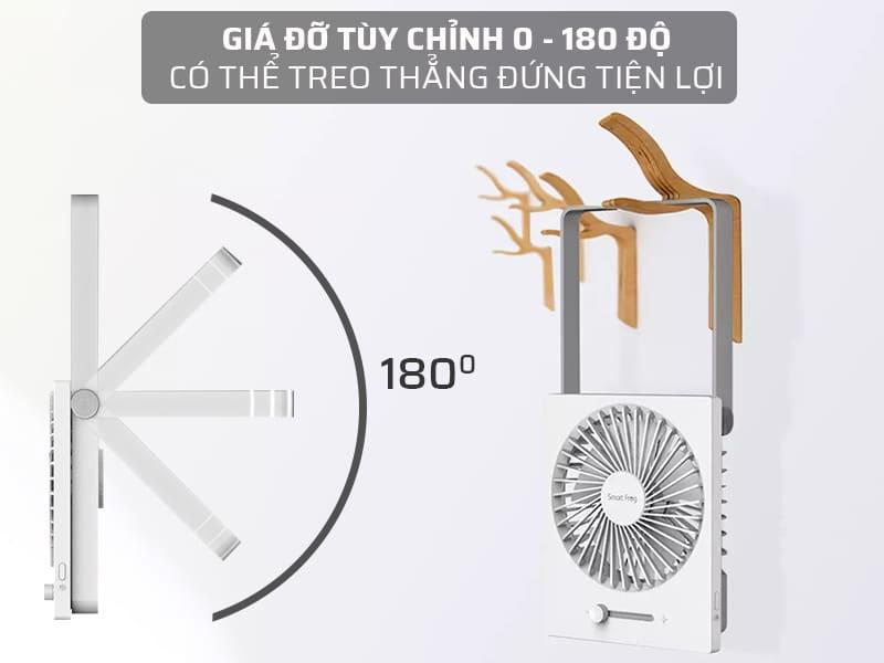 Giá đỡ quạt tích điện mini xiaomi có thể tùy chỉnh 0 - 180 độ