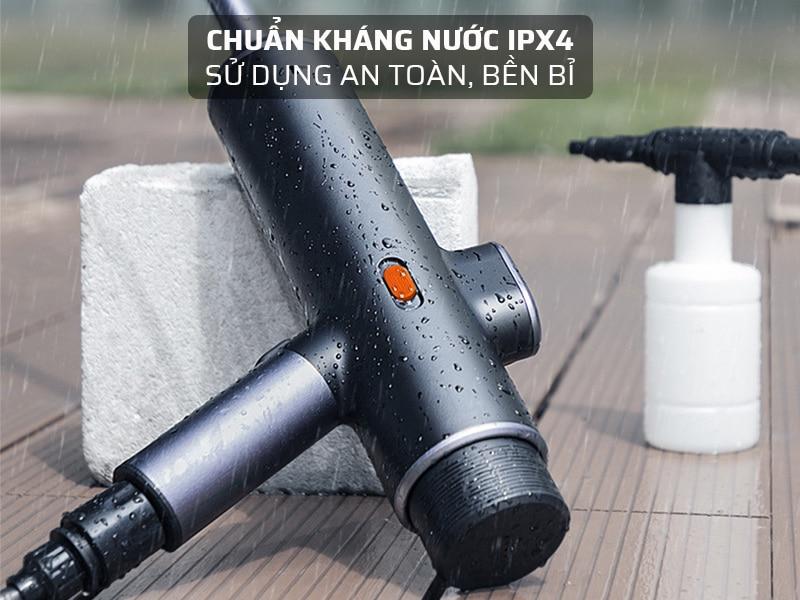 Súng rửa xe tăng áp đạt chuẩn kháng nước IPX4