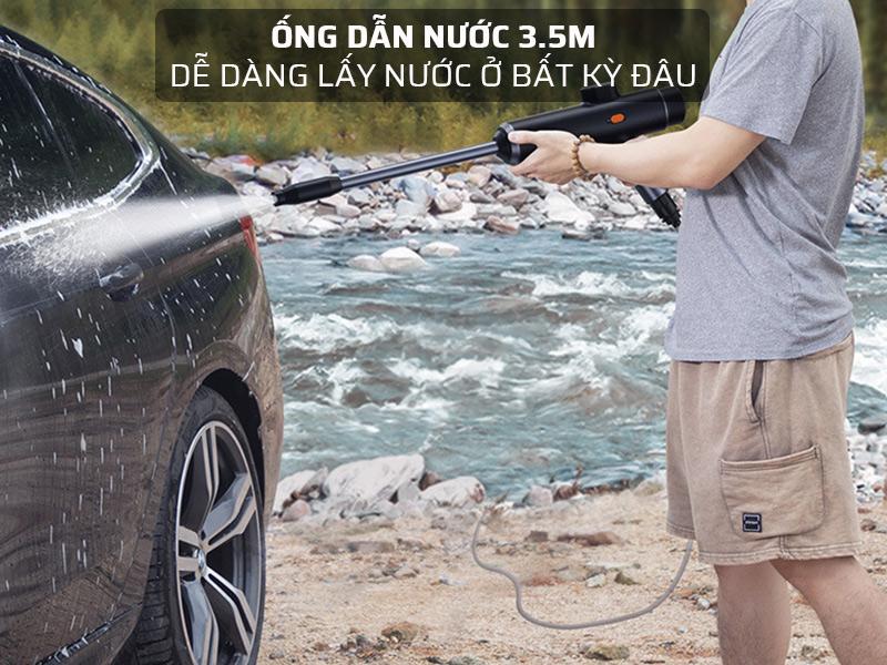 Ống dẫn nước của súng rửa xe dài 3.5 mét
