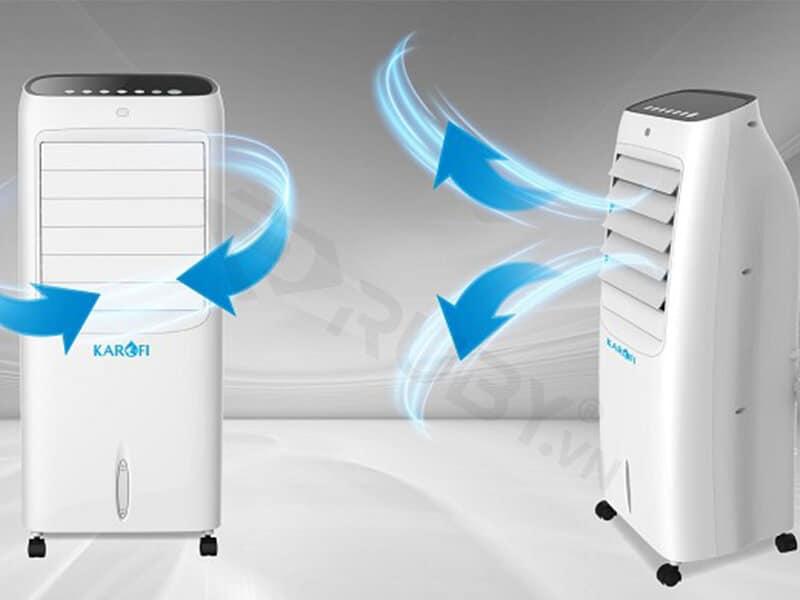 Sử dụng quạt điều hòa giúp thanh lọc và làm sạch không khí
