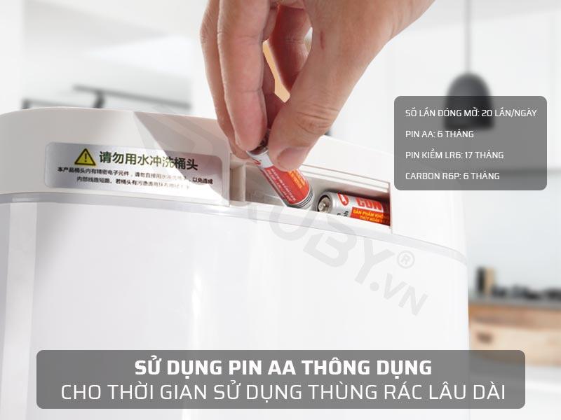 2 pin AA có thời gian sử dụng lên đến 6 tháng