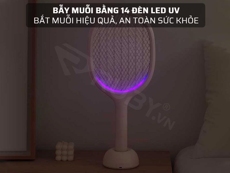 Bẫy muỗi bằng 14 đèn LED UV