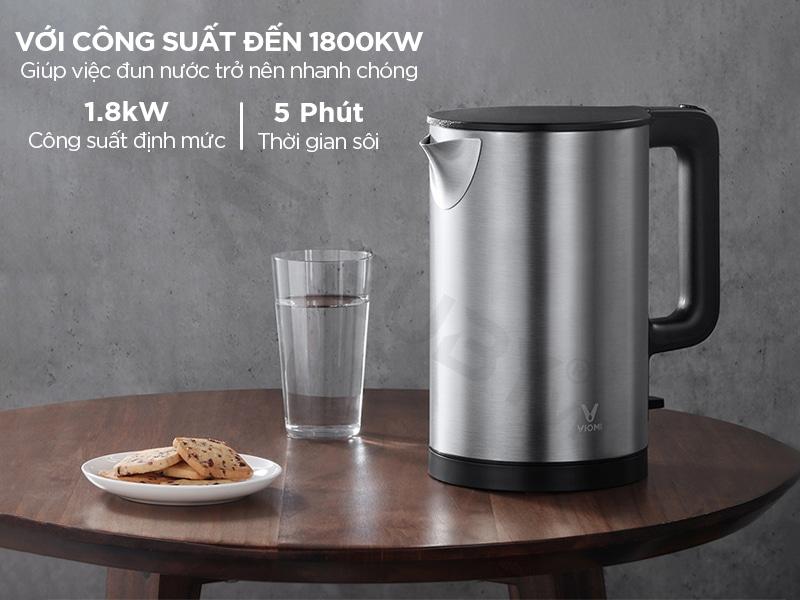 Bình đun nước xiaomi đun sôi trong 5 phút