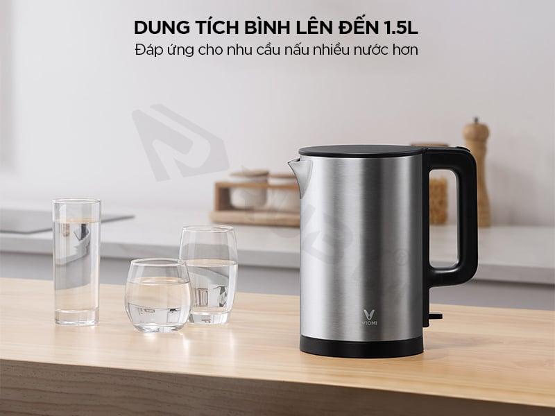 Dung tích bình chứa ấm đun nước xiaomi 1.5L