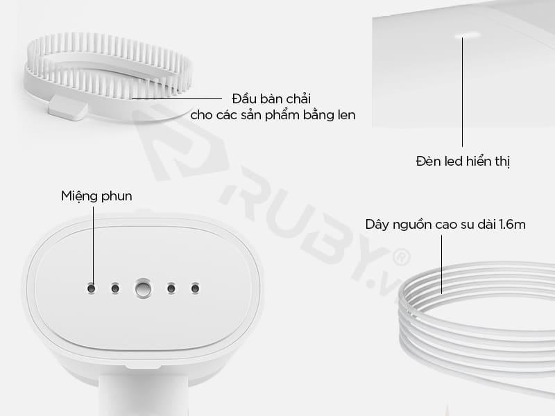 Cấu tạo chi tiết bàn ủi hơi nước cầm tay Xiaomi Mijia MJGTJ01LF
