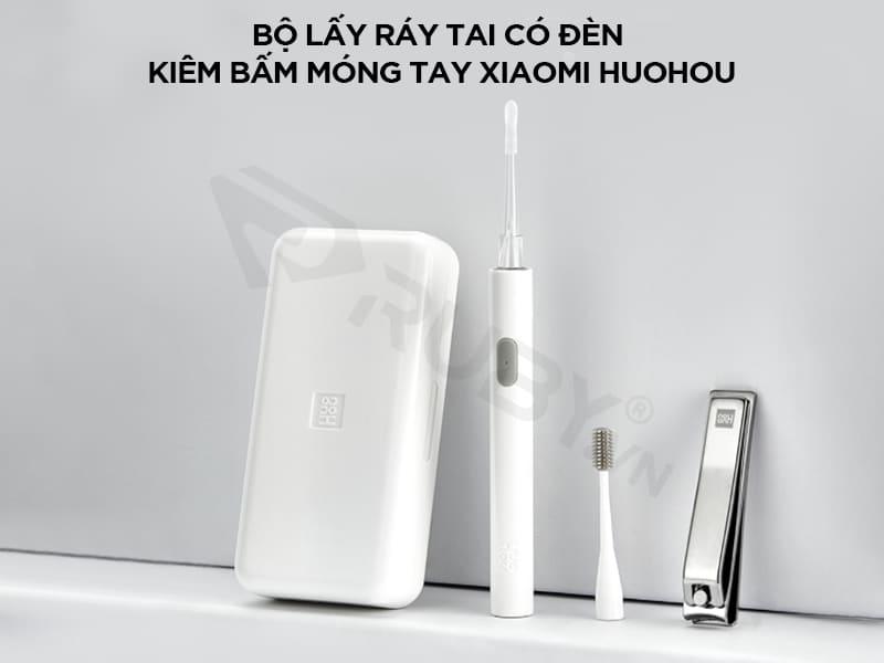 Bộ lấy ráy tai có đèn kiêm bấm móng 2in1 Xiaomi Huohou