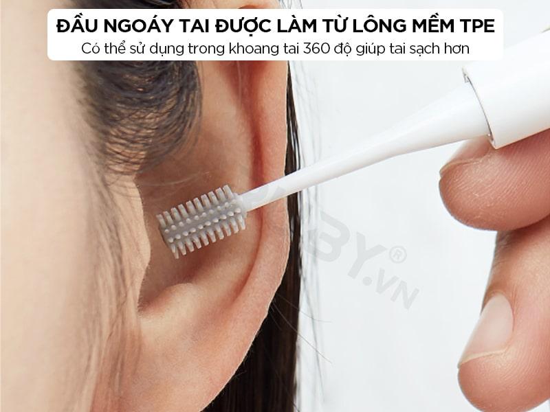 Đầu ngoáy tai được làm từ lông mềm TPE