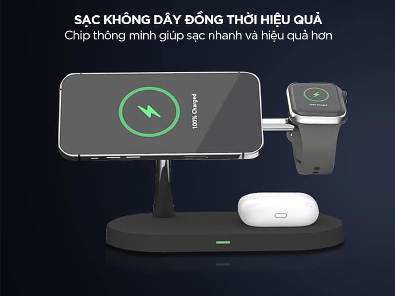 Bộ sạc nhanh không dây Xiaomi có chip thông minh
