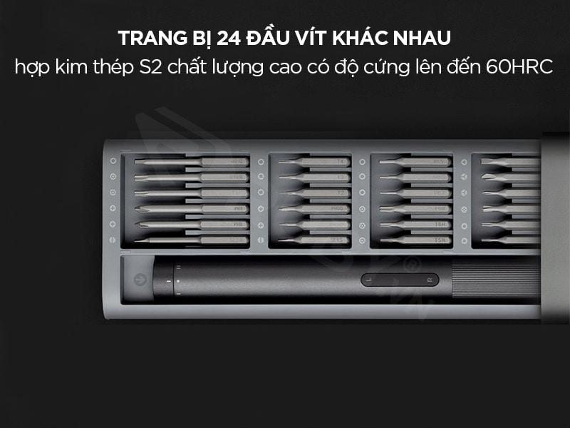 súng bắn vít đa năng Xiaomi trang bị 24 đầu vít