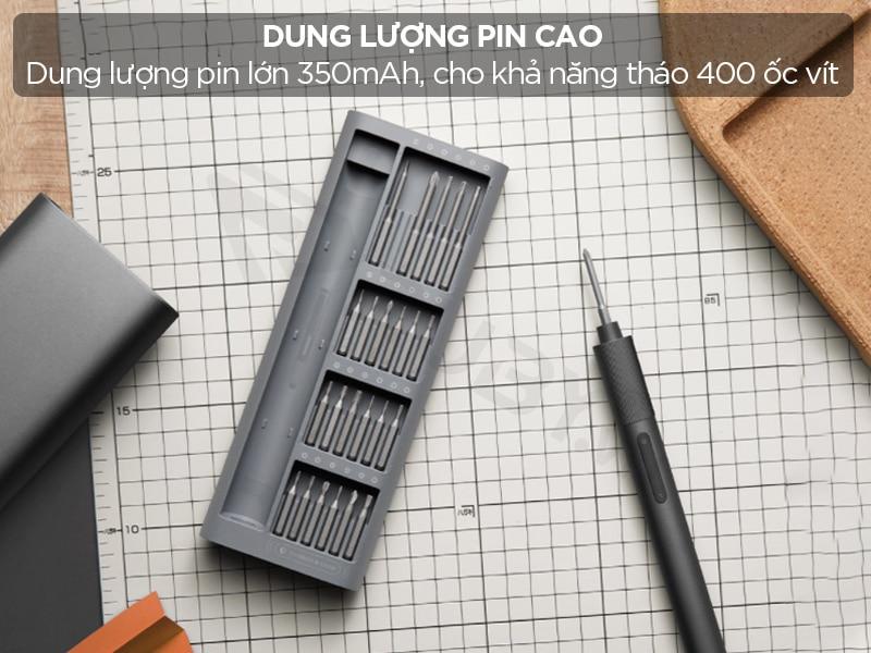 Dung lượng pin cao cho khả năng tháo lắp hơn 400 ốc vít
