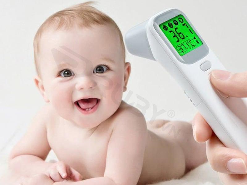 Nhiệt kế hồng ngoại sử dụng đo nhiệt độ thông qua bức xạ nhiệt