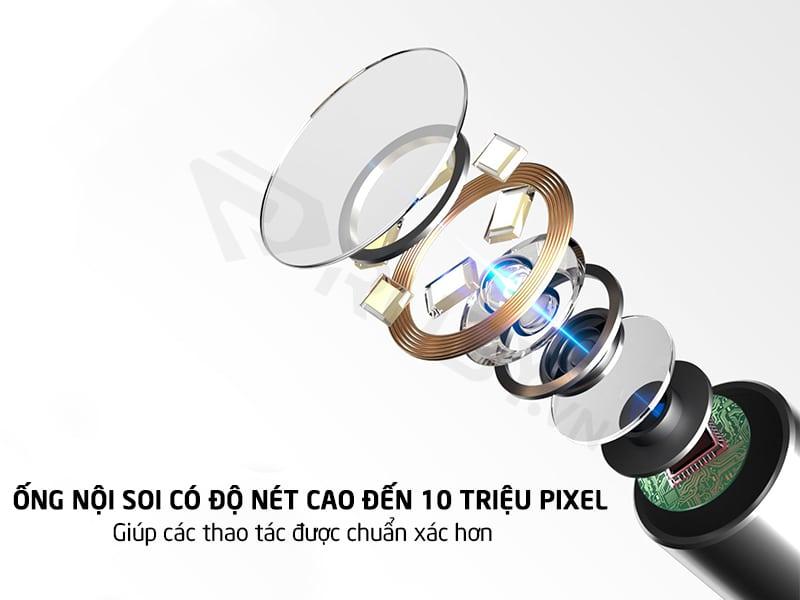bộ dụng cụ lấy ráy tai có ống nội soi độ nét cao đến 10 triệu pixel