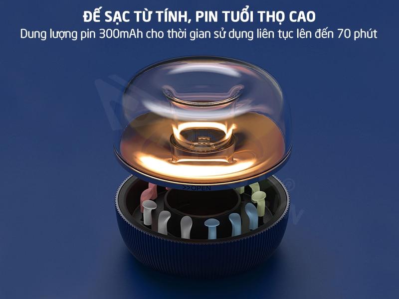 bộ lấy ráy tai xiaomi sử dụng đế sạc từ tính, pin dung lượng cao