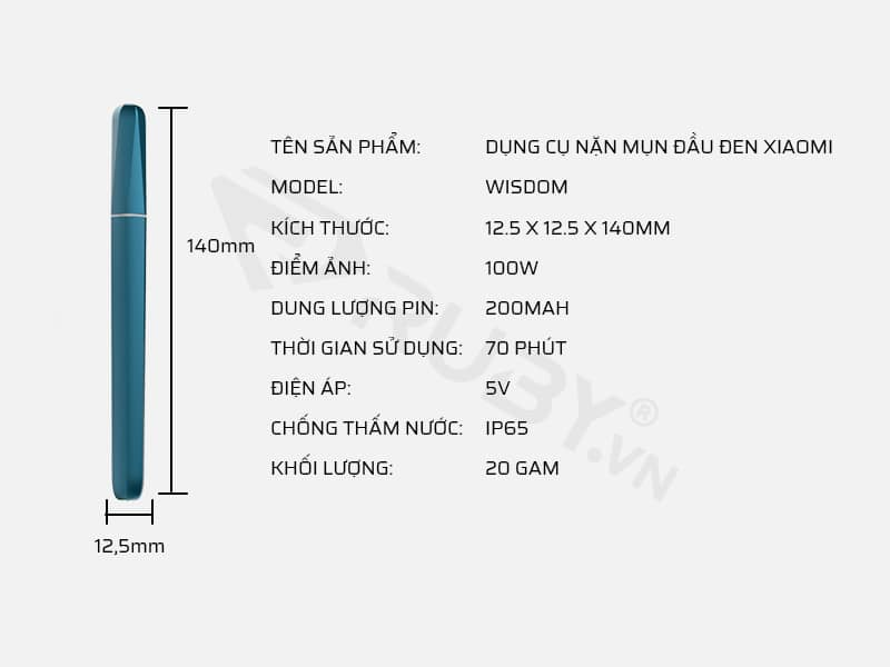 Thông số kỹ thuật dụng cụ nặn mụn đầu đen Xiaomi Youpin Wisdom
