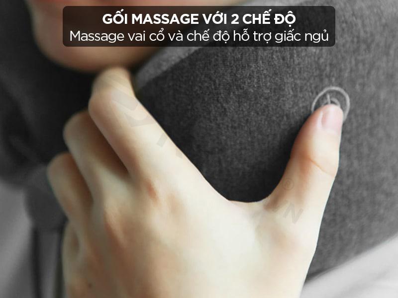 Gối massage với 2 chế độ