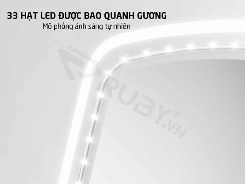 33 hạt LED được bao quanh mô phỏng ánh sáng tự nhiên