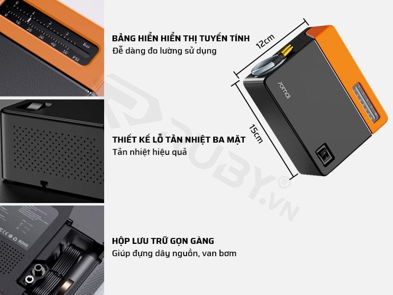Cấu tạo chi tiết máy bơm lốp ô tô mini thông minh Xiaomi 70MAI Midrive TP04