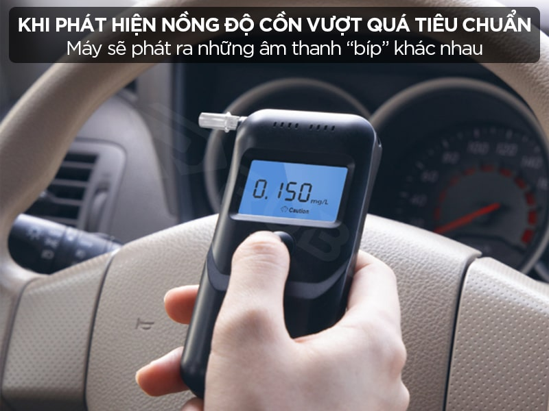máy đo nồng độ cồn mini cảnh báo thông minh