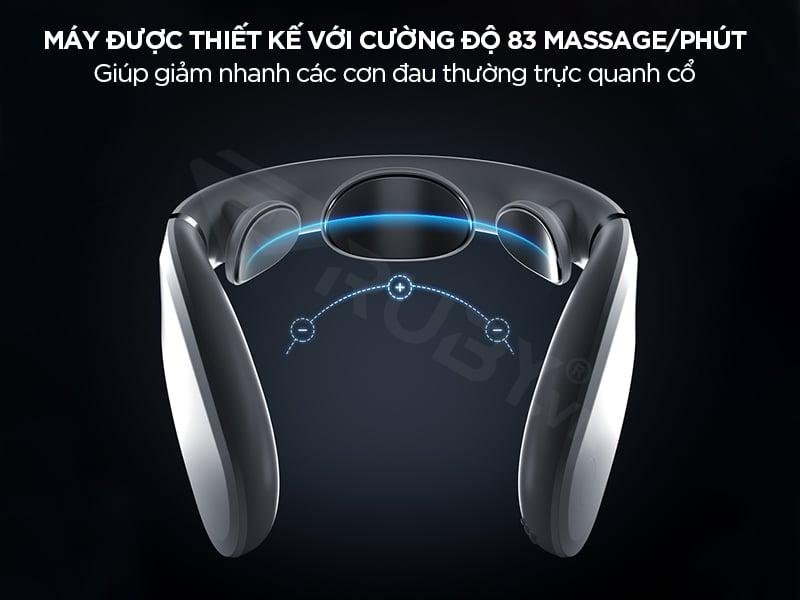 máy massage có cường độ 83 massage/phút