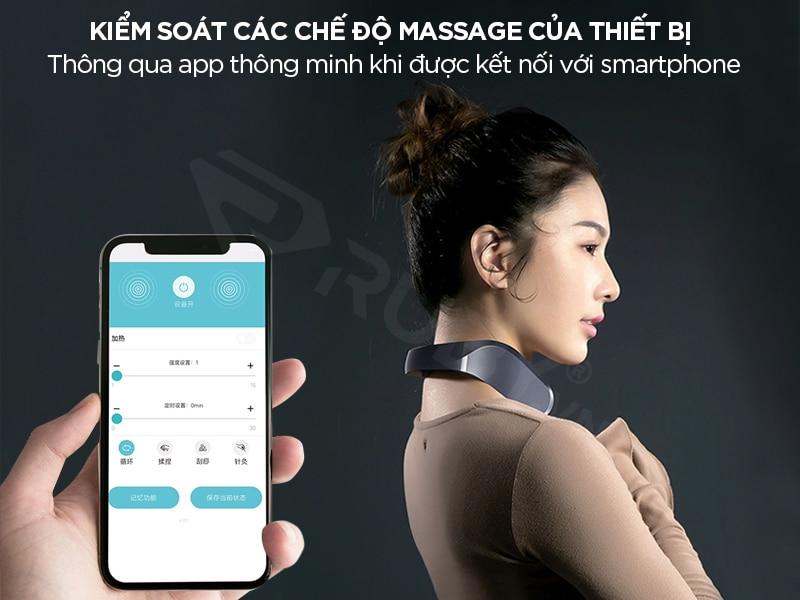 Máy massage cổ Jeeback G2 kết nối điều khiển qua App thông minh