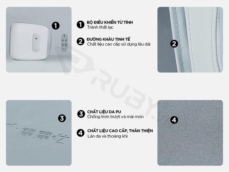 Cấu tạo chi tiết máy massage chân đa năng 3in1 Xiaomi Momoda SX383