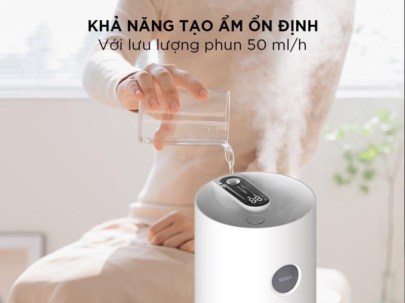 Khả năng phun sương tạo ẩm ổn định với lưu lượng phun 50ml/h