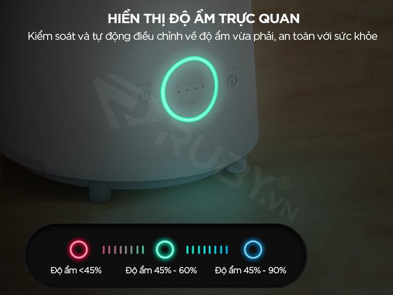 Ld500S có màn hình hiển thị độ ẩm trực quan