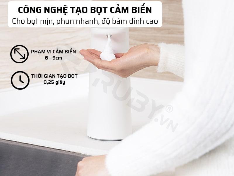 máy rửa tay công nghệ cảm biến