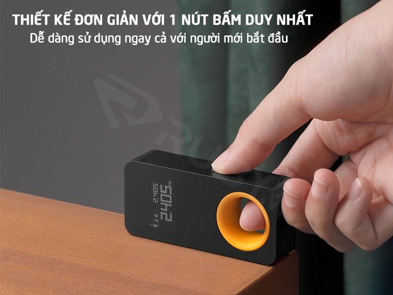 Công cụ đo laser có thiết kế đơn giản chỉ với 1 nút bấm