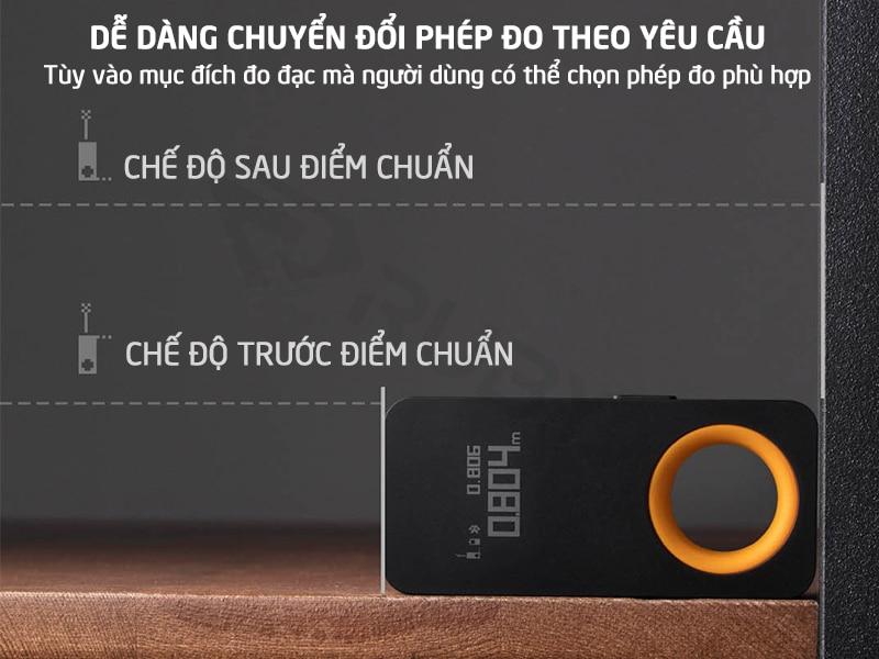 Thước đo laser đa năng Xiaomi dễ dàng chuyển đổi phép đo theo yêu cầu