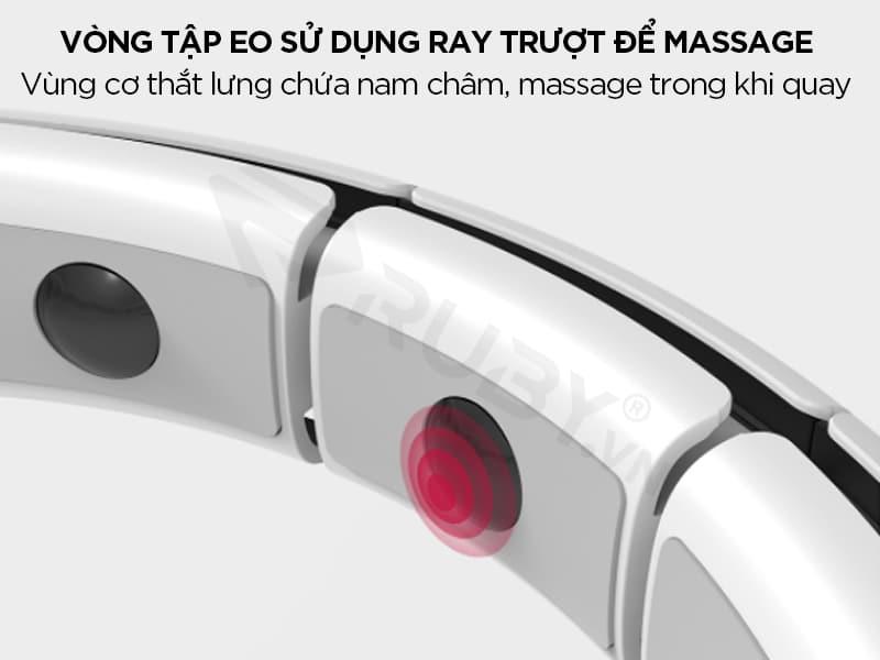 Vòng tập bụng sử dụng ray trượt massage