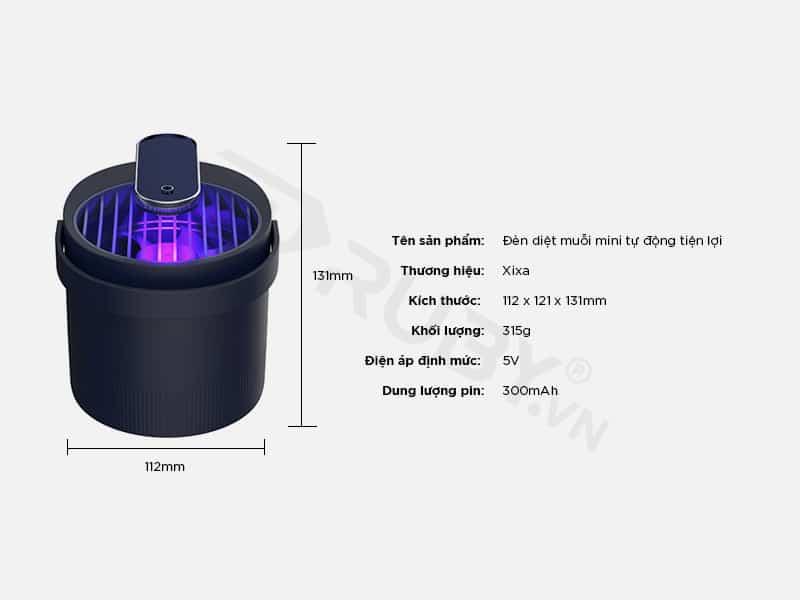 Thông số kỹ thuật Đèn diệt muỗi mini thông minh Xixa