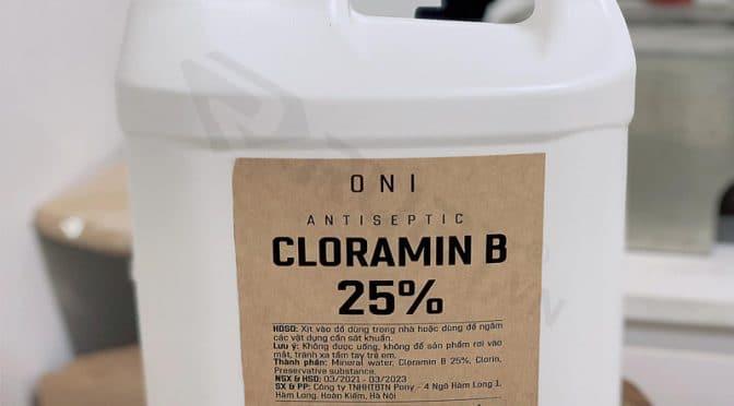 dung dịch cloramin b hàm lượng 25%